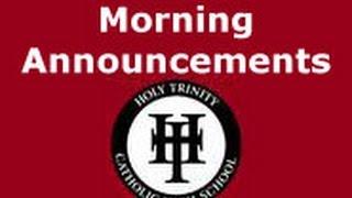 Holy Trinity Catholic High School (Simcoe, Ontario) Live Stream 8:55am School Days