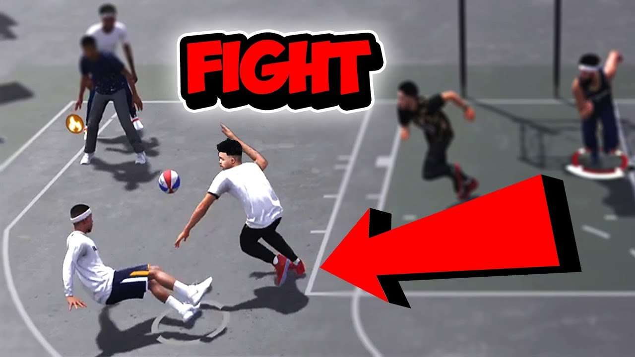 FIGHT ANIMATION IN THE PARK!!! NBA 2K18 (PARK DAYS: Episode 10)