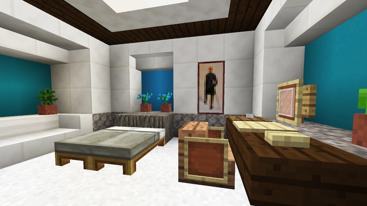 Minecraft Bedroom Interior Design - YouTube