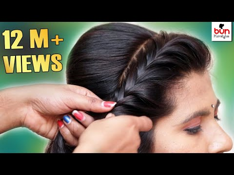 Beautiful MESSY BUN WITH FRONT PUFF HAIRSTYLE  Hair style girl  Partywedding Hairstyle 2019