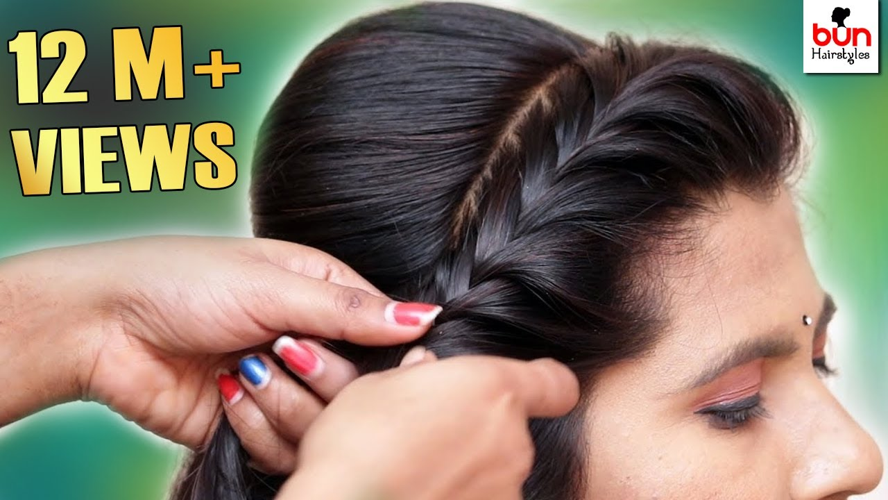 Beautiful MESSY BUN WITH FRONT PUFF HAIRSTYLE | Hair style girl | Party/wedding Hairstyle 2019