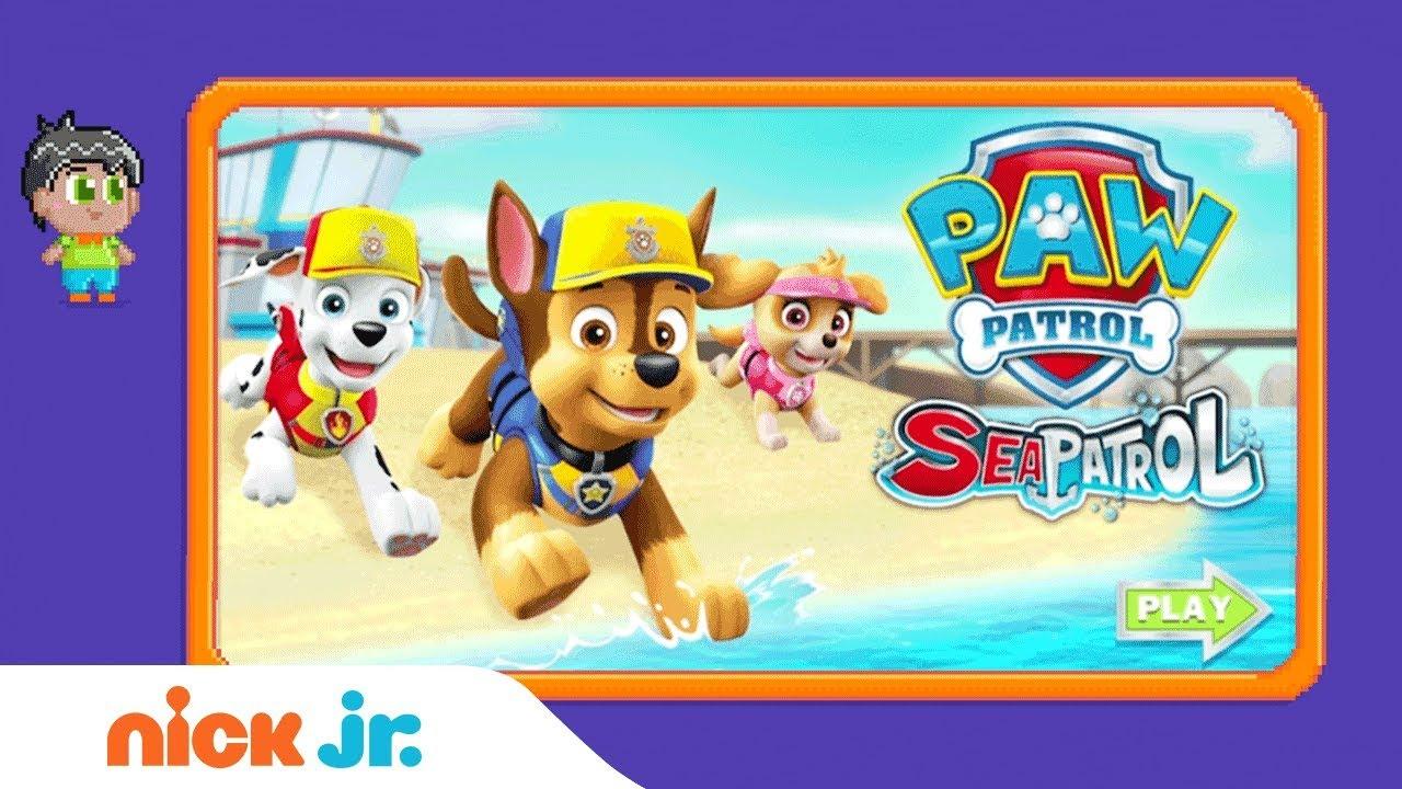 Paw Patrol Sea Patrol Game Walkthrough Nick Jr Gamers Youtube