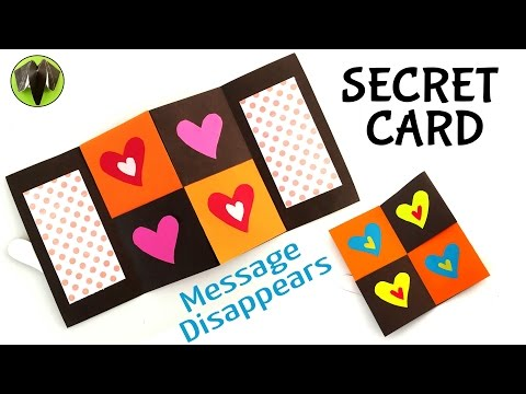 MESSAGE DISAPPEARING SECRET CARD - DIY Tutorial by Paper Folds 🙏