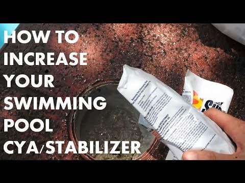 How To Add Chlorine Cyanuric Acid Stabilizer Conditioner To Your Swimming Pool Youtube