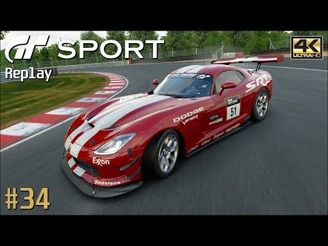Gran Turismo Sport - PS4 Pro Replay 4K 2160p / Dodge Viper Gr.4 / Brands Hatch GP #34