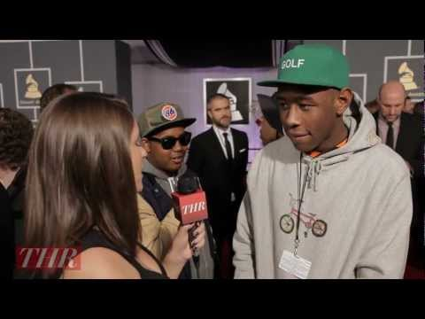Grammys 2013: Tyler, the Creator Admires Chandeliers, Takes 'Selfies' With Stars