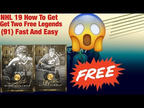 NHL 19 How To Get TWO FREE LEGENDS! (91)