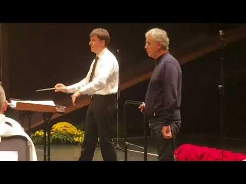 Andrea Bocelli e la Banda musicale della guardia di finanza