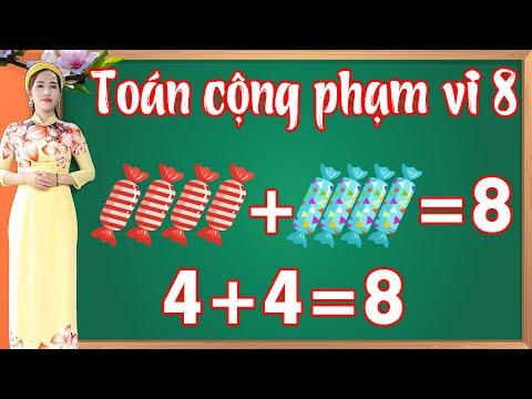 Học toán cộng trong phạm vi 8 |Học toán lớp 1 - bài 4