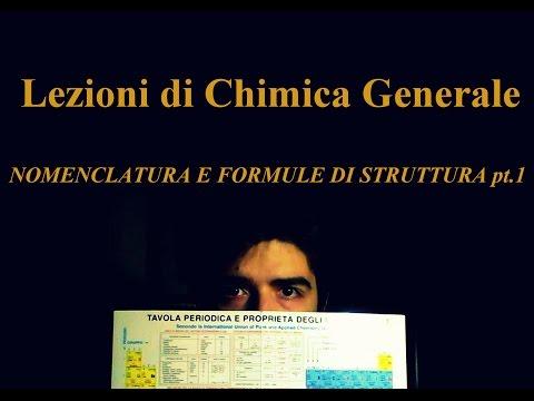 Lezioni di Chimica Generale - Nomenclatura e Formule di Struttura (Parte 1)