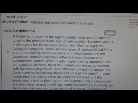 vocabubee california ca real estate license exam top pass words 2015 vocabubee