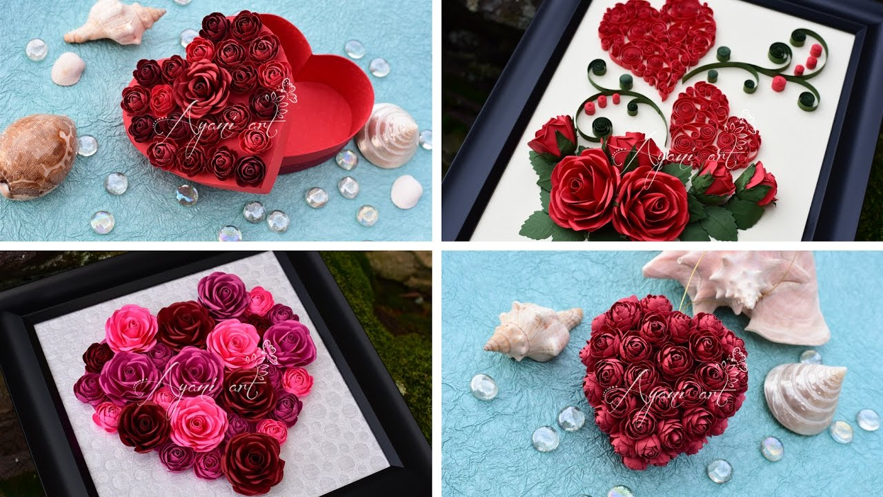 Diy Valentine S Day Gift Ideas With Paper Roses And Quilling