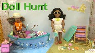"""Huge Our Generation 18"""" Doll Hunt At Target 4 Amercian Girl Dolls   ShannonsDollChannel"""