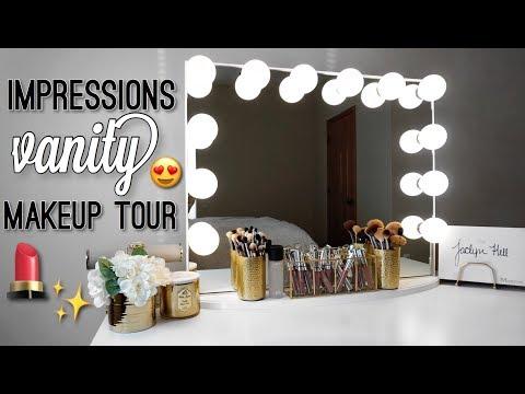 MAKEUP VANITY TOUR | IMPRESSIONS HOLLYWOOD GLOW PLUS VANITY MIRROR