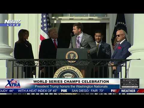 Garret Lewis - Nationals Player Thanks President For Keeping America Safe