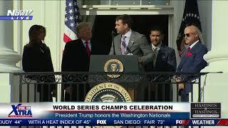 NATIONALS LOVE: Ryan Zimmerman Praises President Trump at World Series Celebration