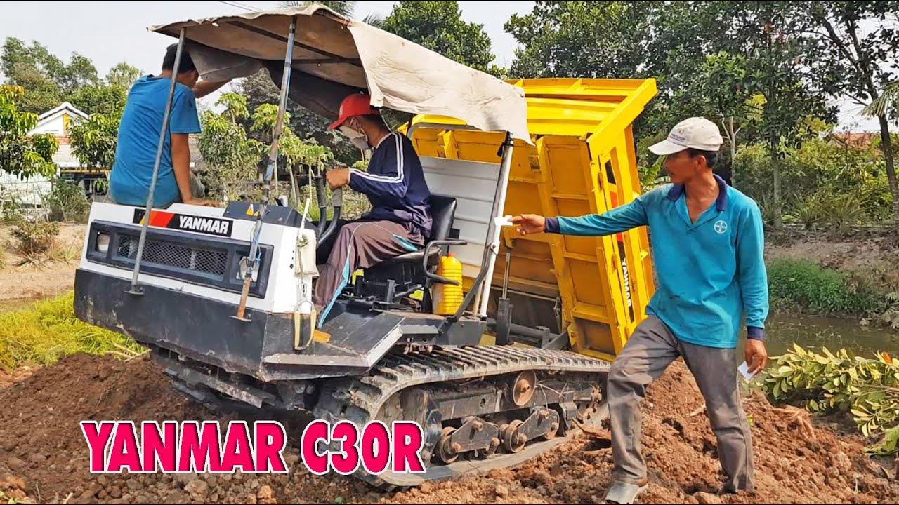 Xe bánh xích YANMAR C30R khỏe nhanh tốc độ chở đất ngoài đồng | Crawler Carrier, LADY
