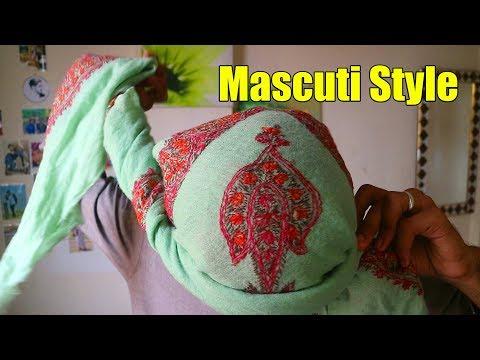 How To Tie Mascuti style Turma   Masur men's Head wearing Tutorial   Amaan Ullah thumbnail