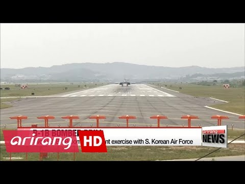 Two U.S. B-1B bombers fly over South Korea