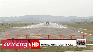 Two U.S. B-1B bombers fly over South Korea