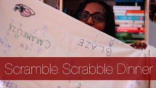 Scramble Scrabble Dinner Art Assignment | #vlogmas