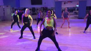 """Charly Black """"Gyal You a Party Animal Remix"""" ft. Daddy Yankee - Zumba with Aura"""