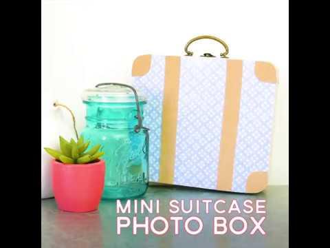 Mini Suitcase Photo Box