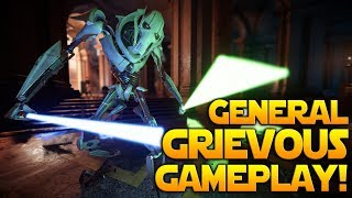 GENERAL GRIEVOUS MULTIPLAYER GAMEPLAY + Abilites, Emotes & Victory poses - Battlefront 2