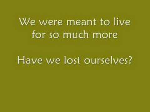 Switchfoot - Meant to Live (with Lyrics)