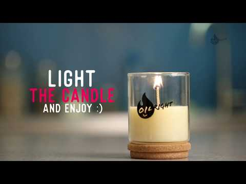 OILRIGHT make your own scented candle from waste cooking oil
