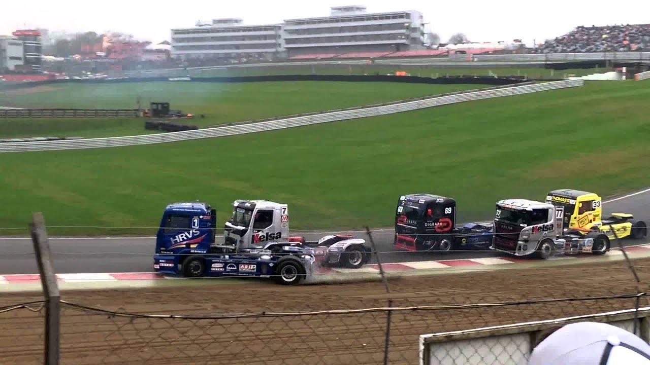 Brands Hatch Truck Racing >> Btra Division1 Truck Racing Crash Race2 Brands Hatch 8 11 15