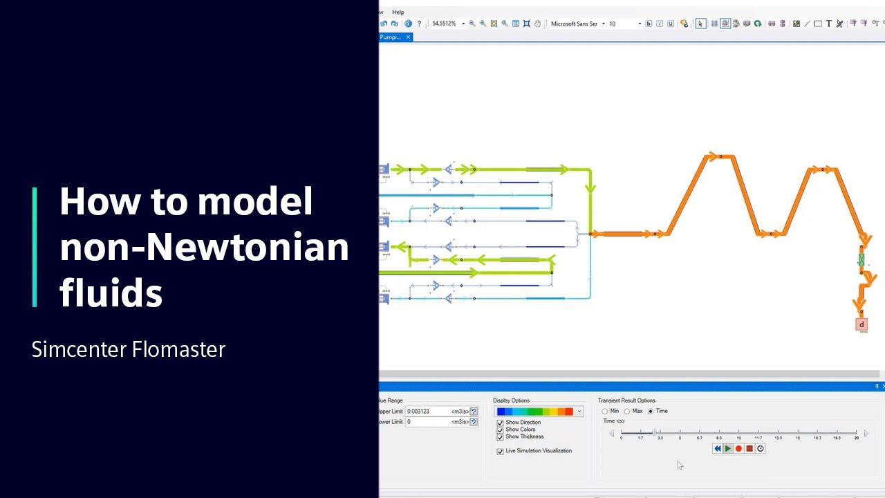 [TECH TIPS Simcenter Flomaster] How to model non-Newtonian fluids using Simcenter Flomaster