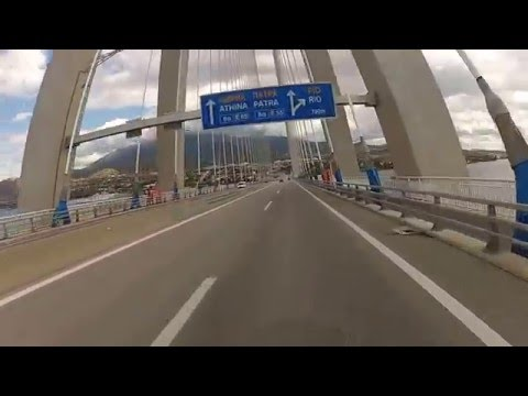 Cross The Rio Bridge to Patras, Greece
