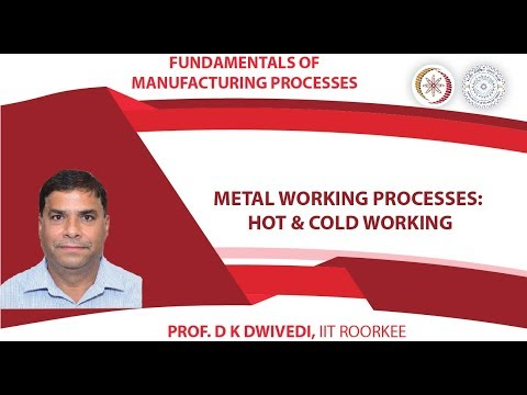 Lecture 25: Metal Working Processes: Hot & Cold Working