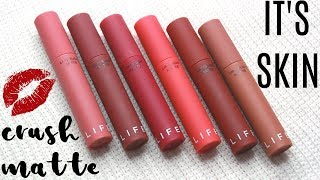 BIYW Review Chapter: #49 IT'S SKIN LIFE COLOR LIP CRUSH MATTE SWATCH & REVIEW