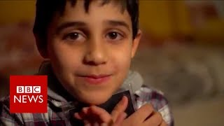 Syria war: Eight-year-old Mustafa's story of survival - BBC News