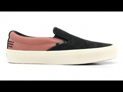 """1d9a12d8c4ddc4 Shoe Review  Vans Vault x Taka Hayashi """"Leather Nubuck"""" TH Slip-On 66 LX  (Black Old Rose)"""