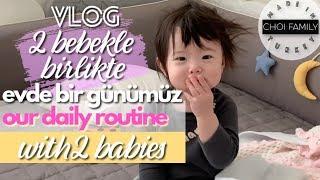 2 bebekle evde bir günümüz ⎟Our Daily Routine with 2 babies⎟VLOG⎟ 국제커플 [Choi Family #91]
