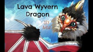 DIY Lava Wyvern Dragon Plush Artdoll tutorial