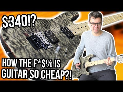Stainless Steel Frets, Floyd Rose, Grover Tuners. $340. What.    Harley Benton Fusion HH Demo/Review