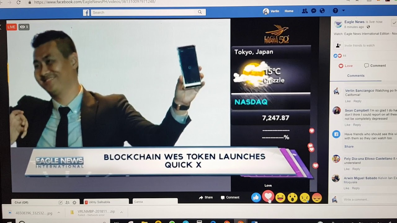 Eagle News 25 International Features WES Token and QuickX