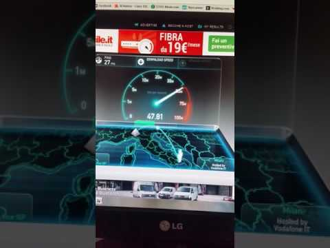 Speed Test Fibra Vodafone 50 Mega - ALTAMURA(BA)