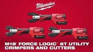 Milwaukee® M18™ FORCE LOGIC™ 6T Utility Crimpers and Cutters