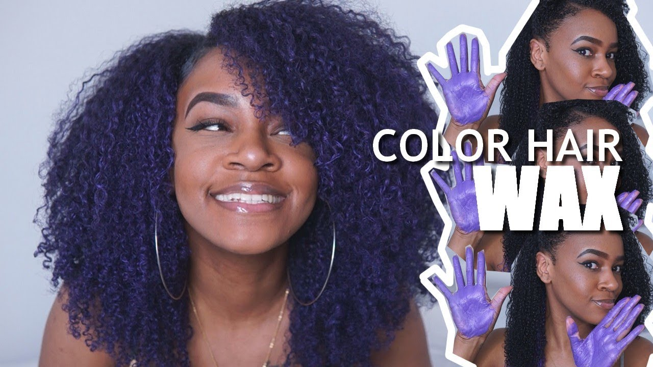 Color Hair Wax On Black Natural Hair Im Livingggg For This Purple