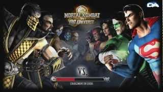 decouverte mortal combat vs dc universe