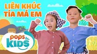 Liên Khúc Tía Má Em - Nhạc Thiếu Nhi Sôi Động | Vietnamese Kids Song