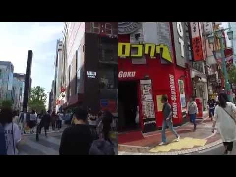Seoul (서울) vs Tokyo (東京) walking comparison/비교/比较