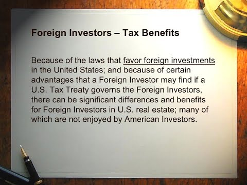 U.S. Source Income And The Foreign Investor