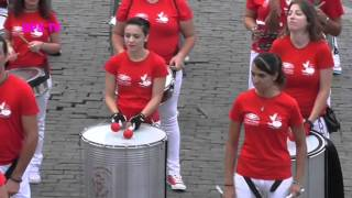 Actuación Batucada Campobassao Samba | ACDR Fuente Nueva  Presentación Oficial 16/08/2015