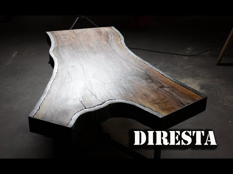 DiResta Steel Bark Walnut Slab